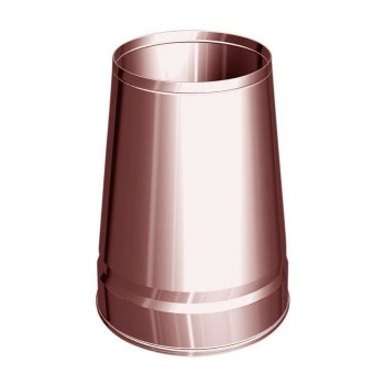 Truncated conical flue pipe cowl copper