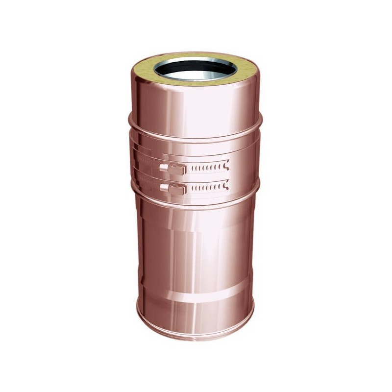 Variable flue pipe component copper