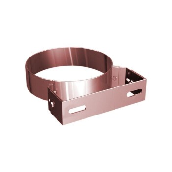 Flue pipe wall bracket copper