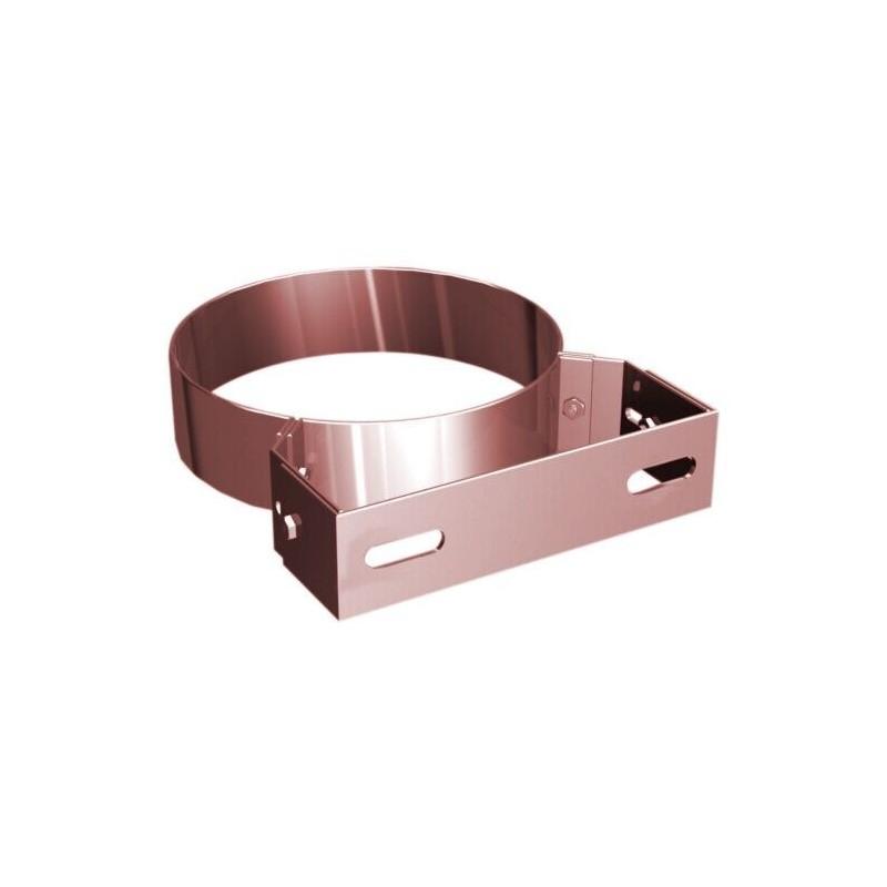 Flue pipe wall bracket copper