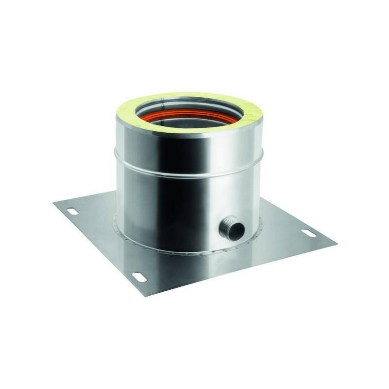 Plancha de salida con descarga de agua de condensación lateral conductos de humos