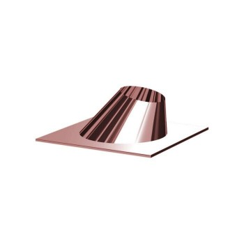Copper slanted chimney weathering flues