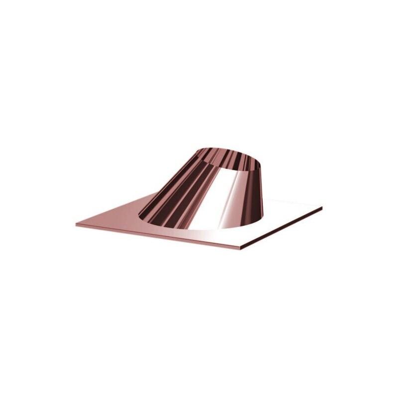 Copper slanted chimney weathering flues