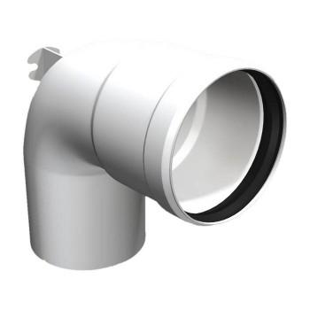 Flue pipe plastic bend 93°