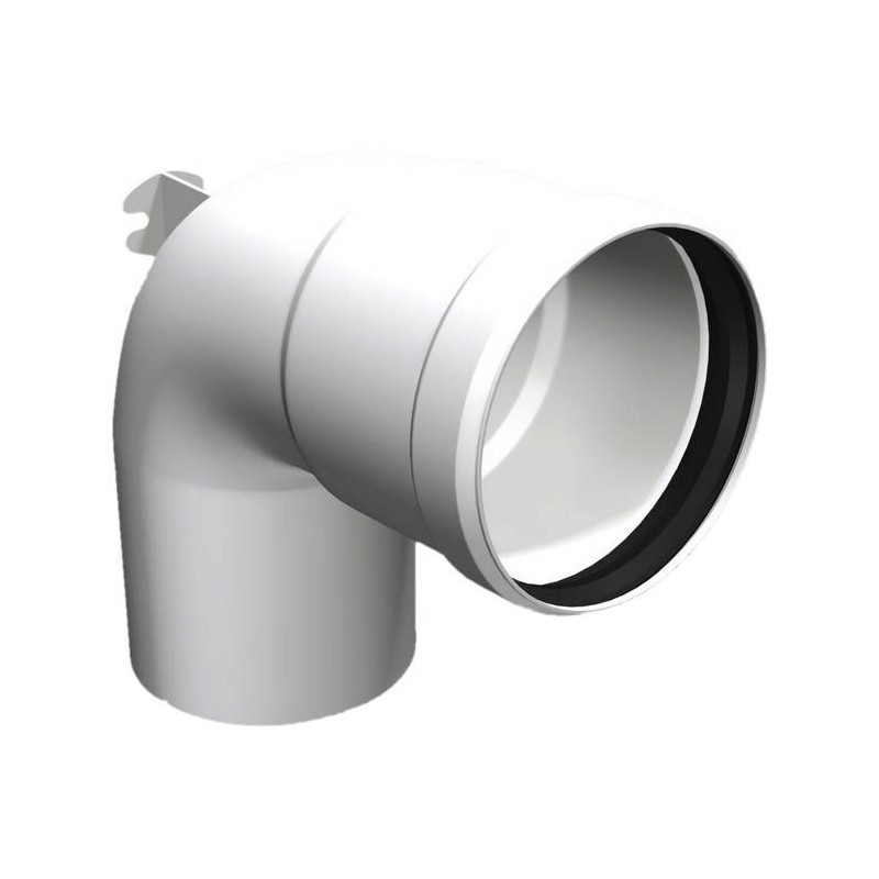 Ofenrohr-Winkelstück 93° Kunststoff