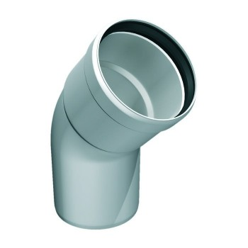 Flue pipe plastic bend 45°