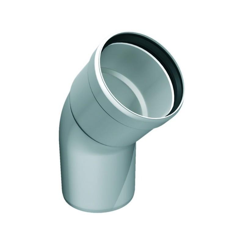 Curva 45° per canna fumaria in plastica