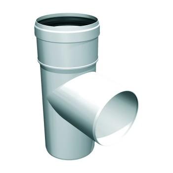 87° flue pipe plastic tee...