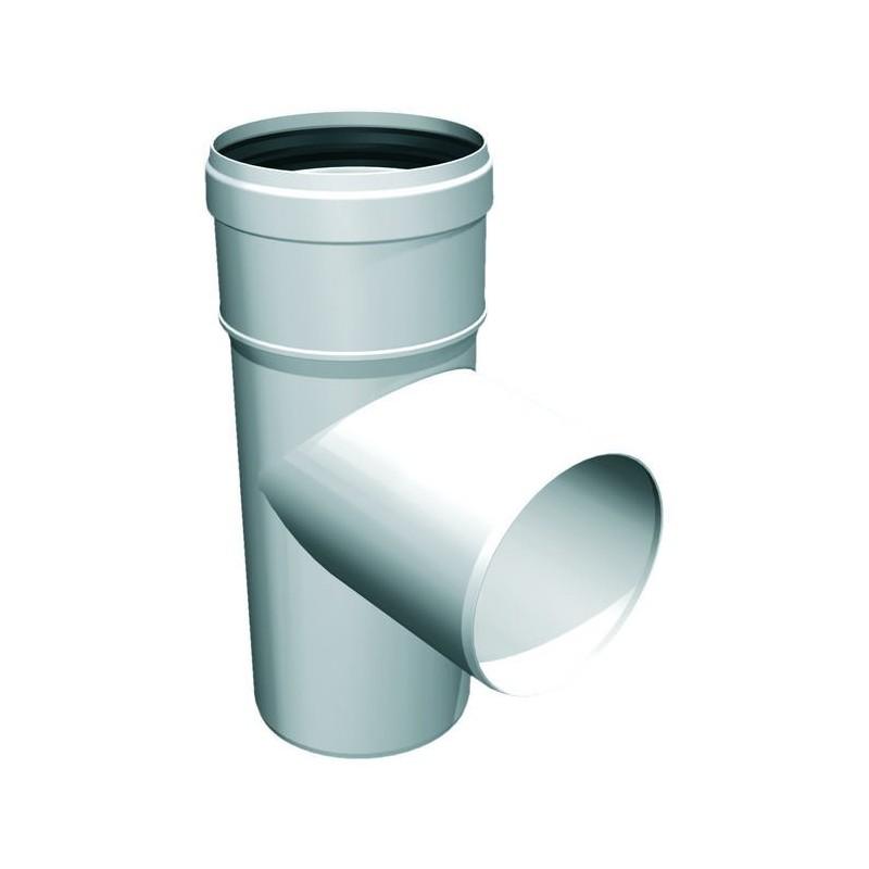Raccord TÉ 87° mâle conduit de cheminée plastique