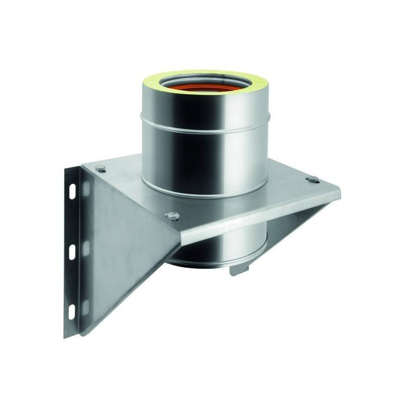 Intermediate flue pipe support bracket