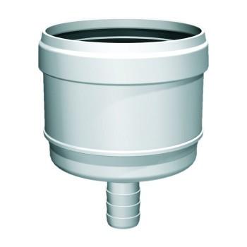 Flue pipe plastic condensate drain