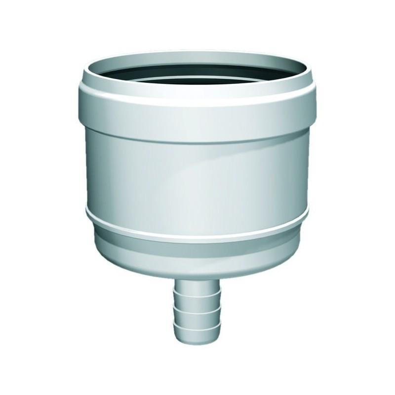 Évacuation des condensats conduit de cheminée plastique