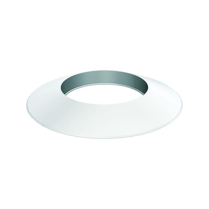 Flue pipe plastic rosette collar