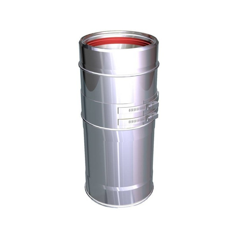 Variable flue pipe component stainless