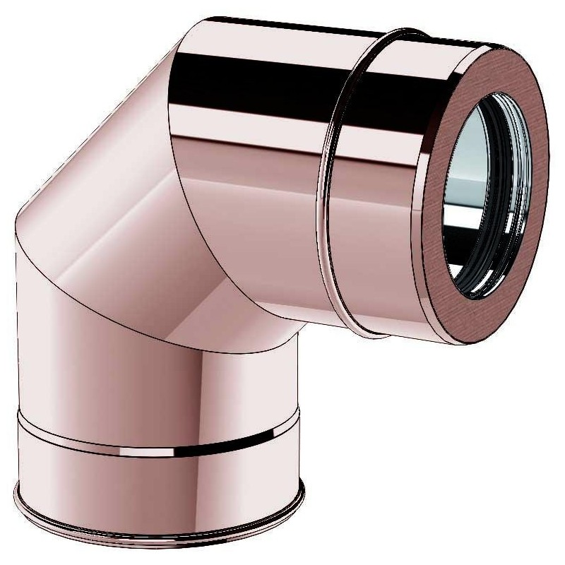 Flue pipe component 1000 mm pipe stainless