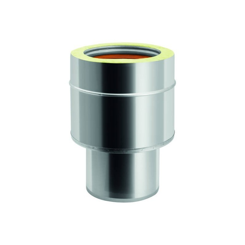 Smooth male-isotherm female joint for single wall flue pipe