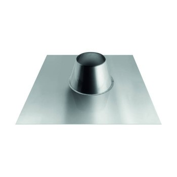 flat cone-shaped flashing with aluminium plate for flue pipes