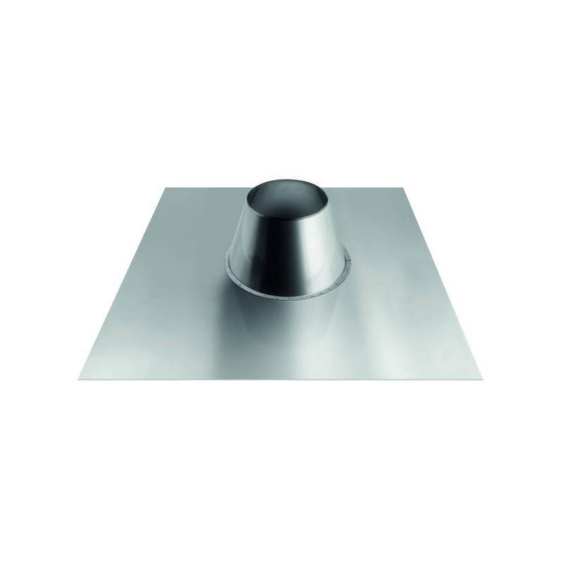 Konische, ebene Ofenrohr-Dachdurchführung mit Aluminiumplatte