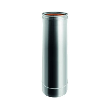 Élément H. TOT. 1000 mm conduit de cheminée en acier inox à paroi simple