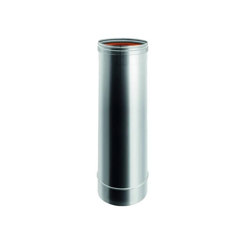 Elemento H. TOT. 1000 mm conducto de humo de acero inox de pared simple