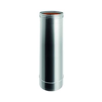 Élément H. TOT. 250 mm conduit de cheminée en acier inox à paroi simple