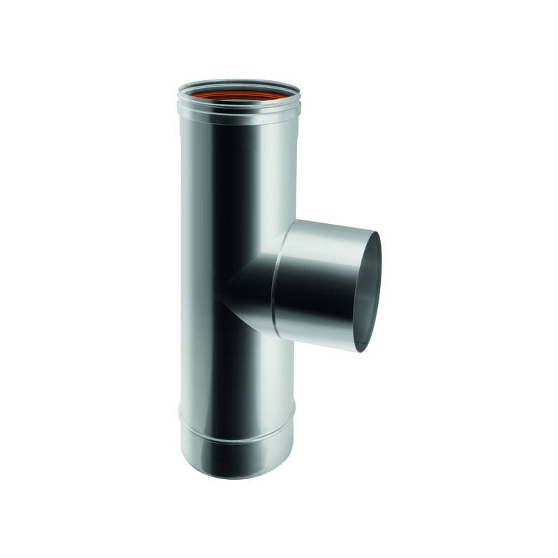 90° male flue pipe tee joint
