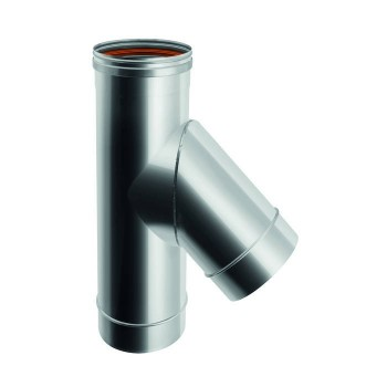 Flue pipe TE 45° joint single-wall stainless steel
