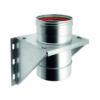Flue pipe intermediate bracket single-wall stainless steel