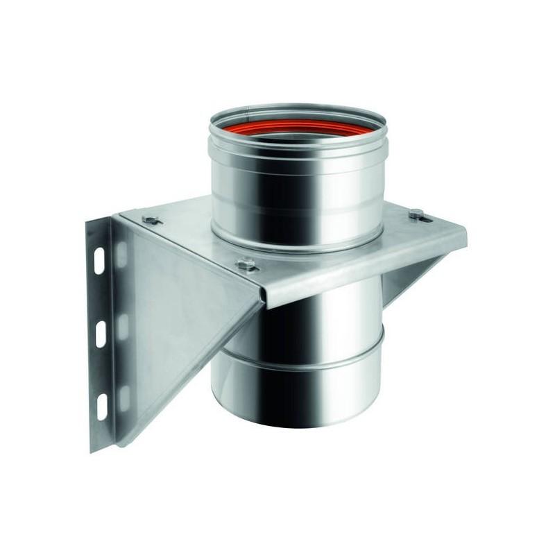 Plaque intermédiaire conduit de cheminée en acier inox à paroi simple