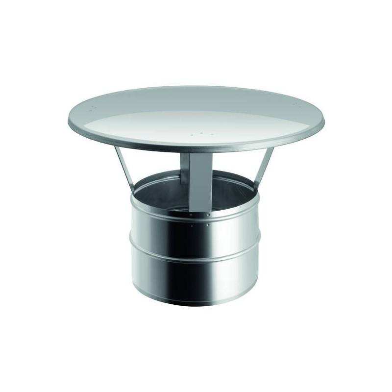 Chapeau chinois pour conduit de cheminée en acier inox à paroi simple