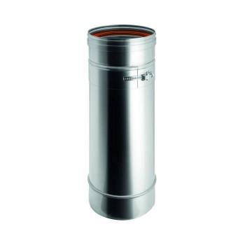 Elemento variable conducto de humo de acero inox de pared simple