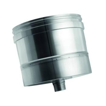 Évacuation condensation conduit de cheminée  en acier inox à paroi simple