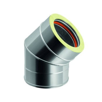 Flue pipe bend 45°