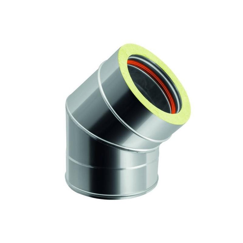 Conduit de cheminée coude 45°