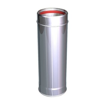 Flue pipe component 1000 mm pipe stainless Aria