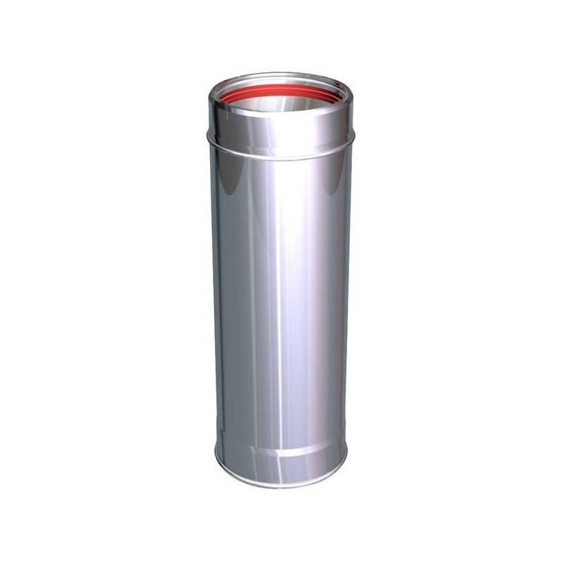 Elemento lineare 1000 mm canne fumarie Inox