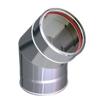 45° flue pipe bend stainless Aria