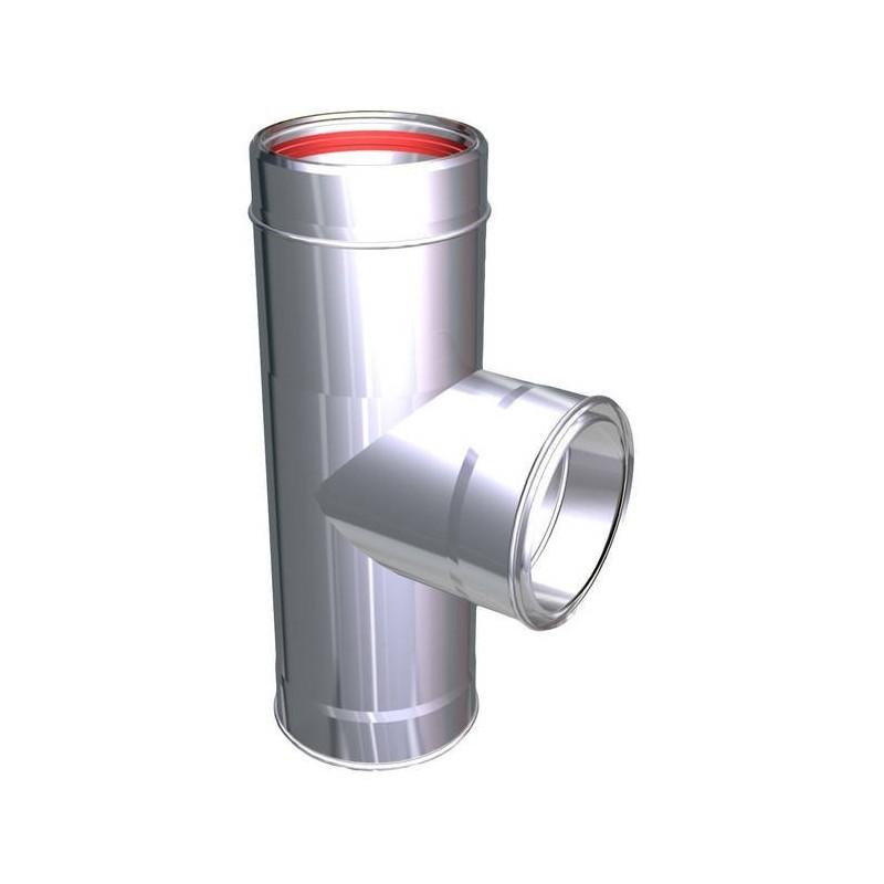 Raccord TÉ 90° conduits de cheminée inoxydable Aria
