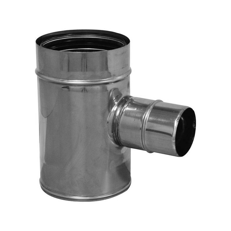 90° flue pipe reduced tee joint stainless Aria