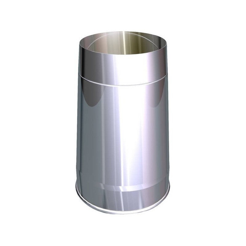 Truncated conical flue pipe cowl stainless