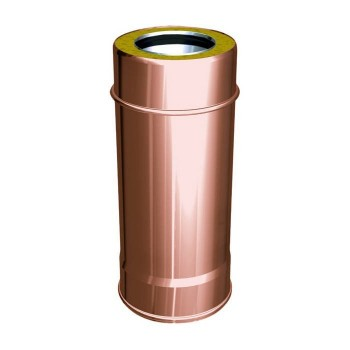 Flue pipe component 500 mm copper