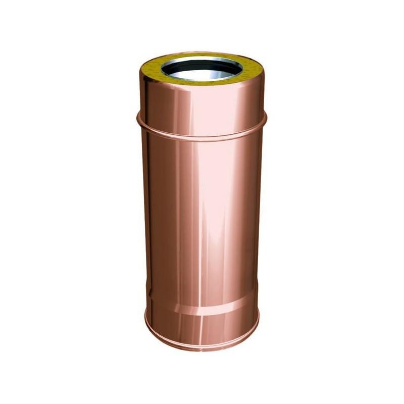 Flue pipe component 500 mm copper