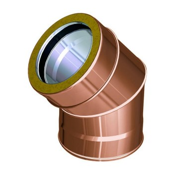 45° flue pipe bend copper
