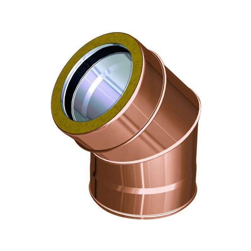 Coude 45° conduits de cheminée cuivre