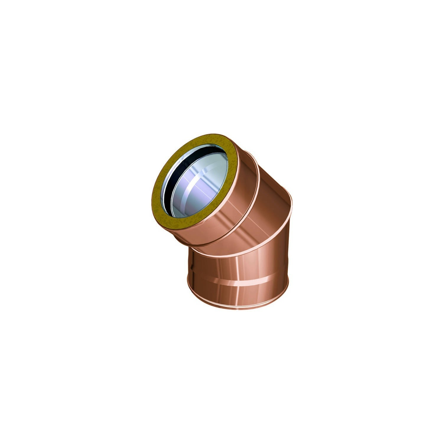 Flue pipe component 250 mm copper