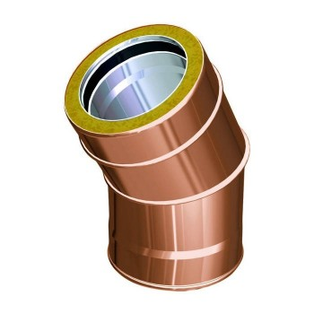 30° flue pipe bend copper