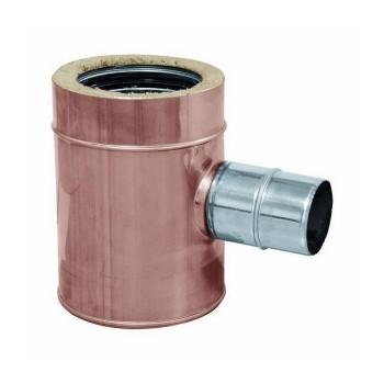 Raccord TÉ 90° réduit conduits de cheminée cuivre