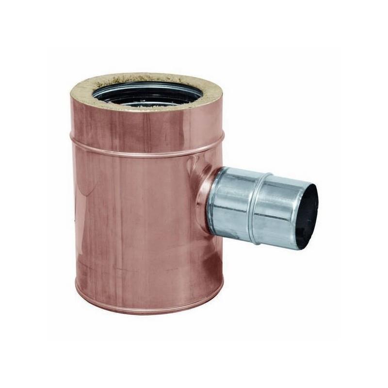 Racor TE 90° reducido conductos de humos cobre