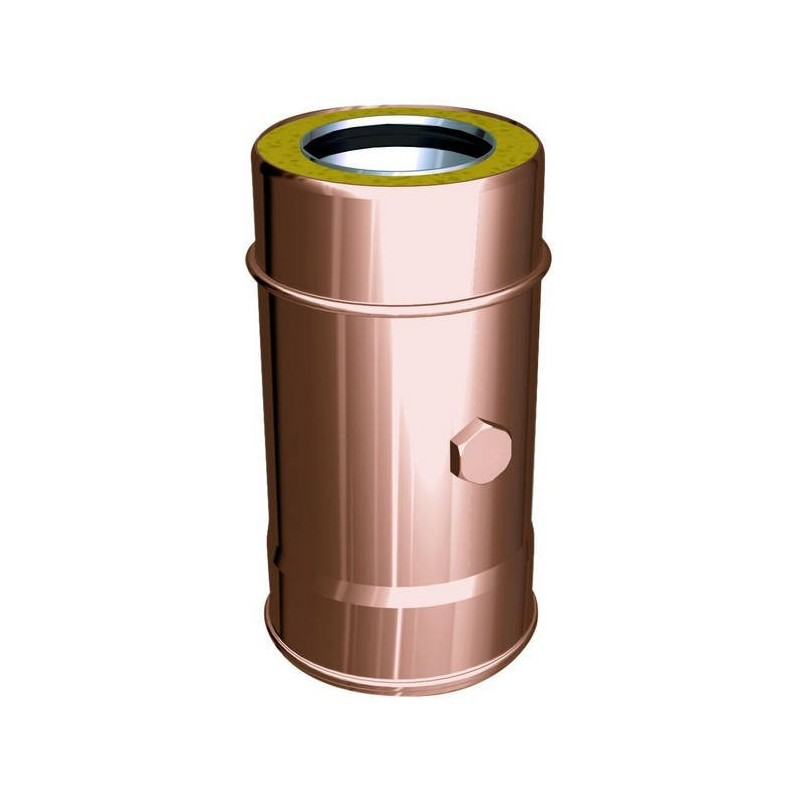 45° flue pipe tee joint copper