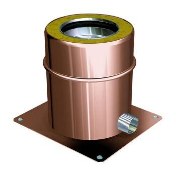 Ofenrohr-Konsolenblech mit seitlicher Kondensatentlüftung Kupfer